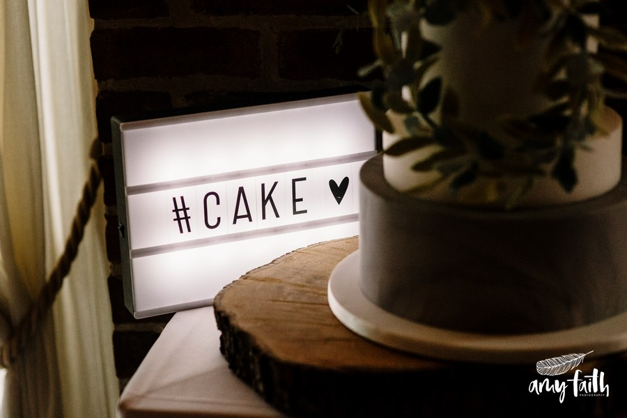 Cake sign light up box