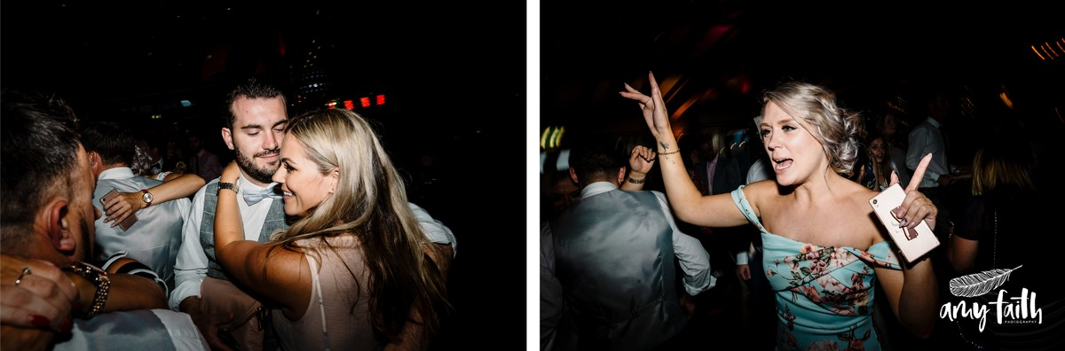 Documentary shots of guests dancing and having good time