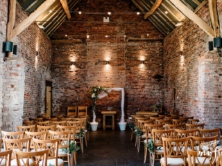 barn wedding venue on farm