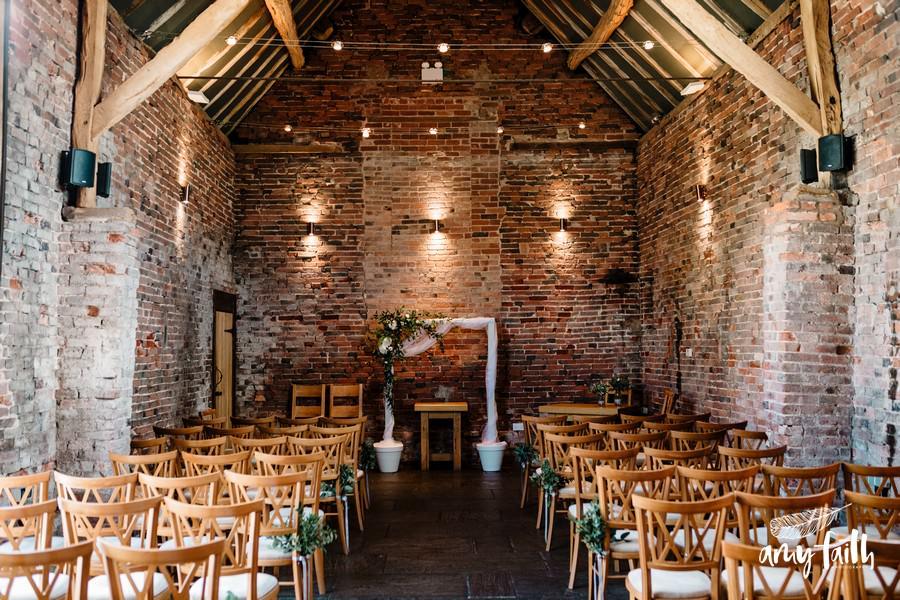barn wedding venue on farm