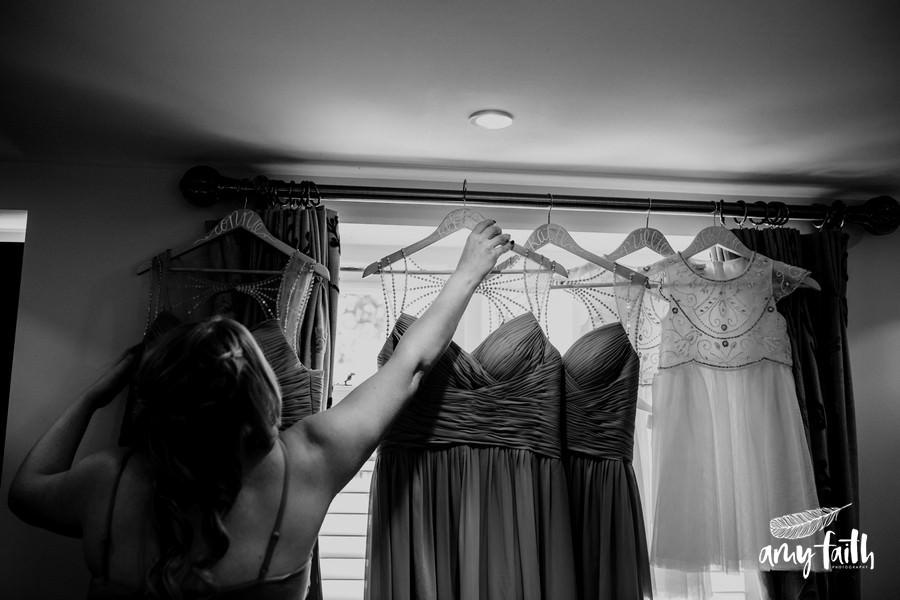black and white bridesmaids dresses